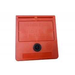 Cassetta delle chiavi di emergenza (testo in catalano)