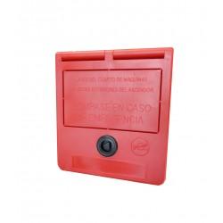 Cassetta delle chiavi di emergenza (testo in spagnolo)
