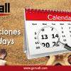 Calendario di lavoro 2020